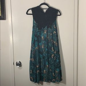 Green print Anthro dress